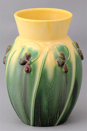 Raindrop vase details for Arts and crafts pottery makers